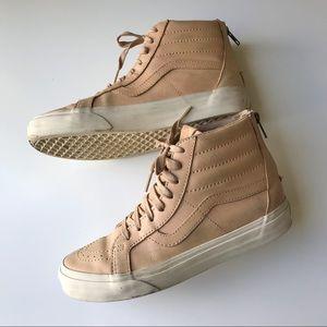 Vans high top leather zip size 8.5